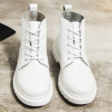 Genuine Leather Boots Women White Ankle Boots Motorcycle Boots Female Autumn Winter Shoes Woman Punk Botas Mujer 2020 Spring