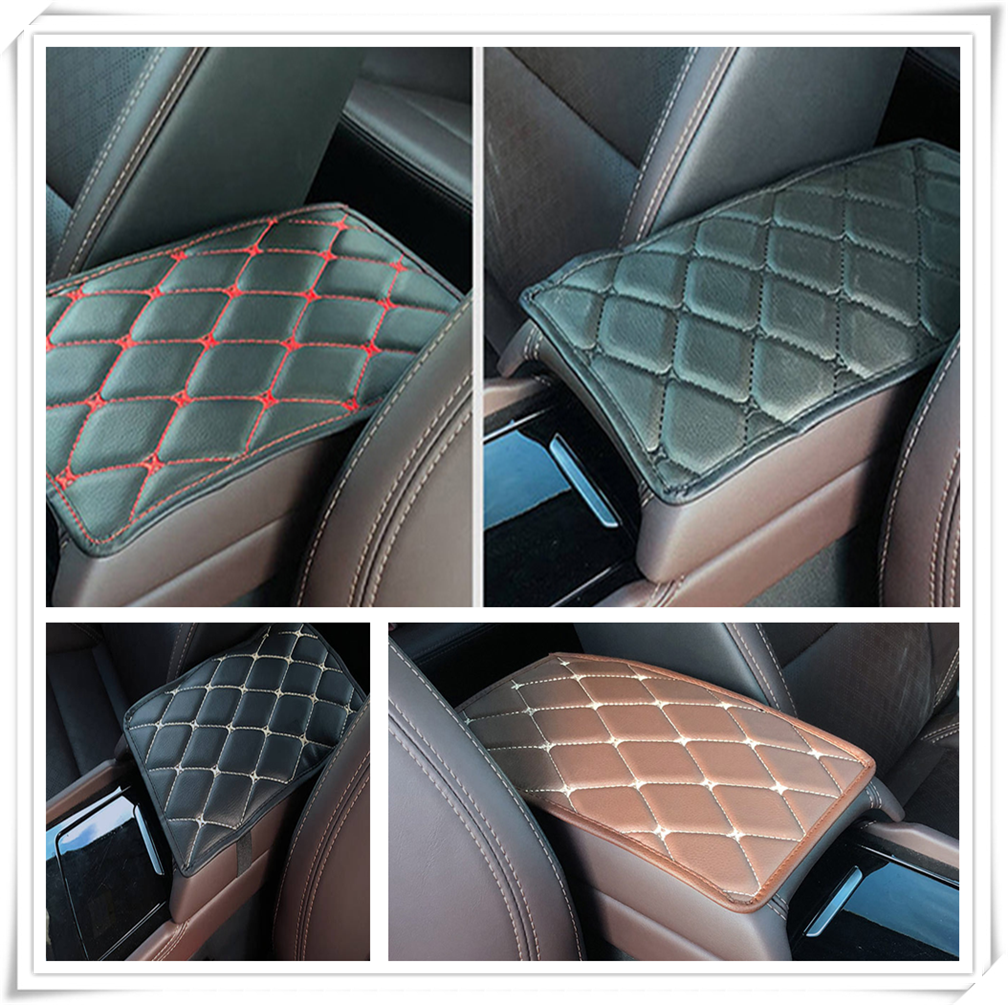 Car Armrest Mat Storage Box Arm rest Pad Cushion Pad for <font><b>Toyota</b></font> <font><b>4Runner</b></font> Sienna Sequoia Prius GR Camry i-TRIL COASTER highlander image