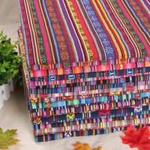 1 meter Ethnic Style Cotton Linen Retro Bohemia fabric DIY Handmade Textile Sewing Patchwork For Bags Clothes Sofa Table cloth