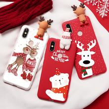 Christmas Deer Bear Case For Xiaomi Redm