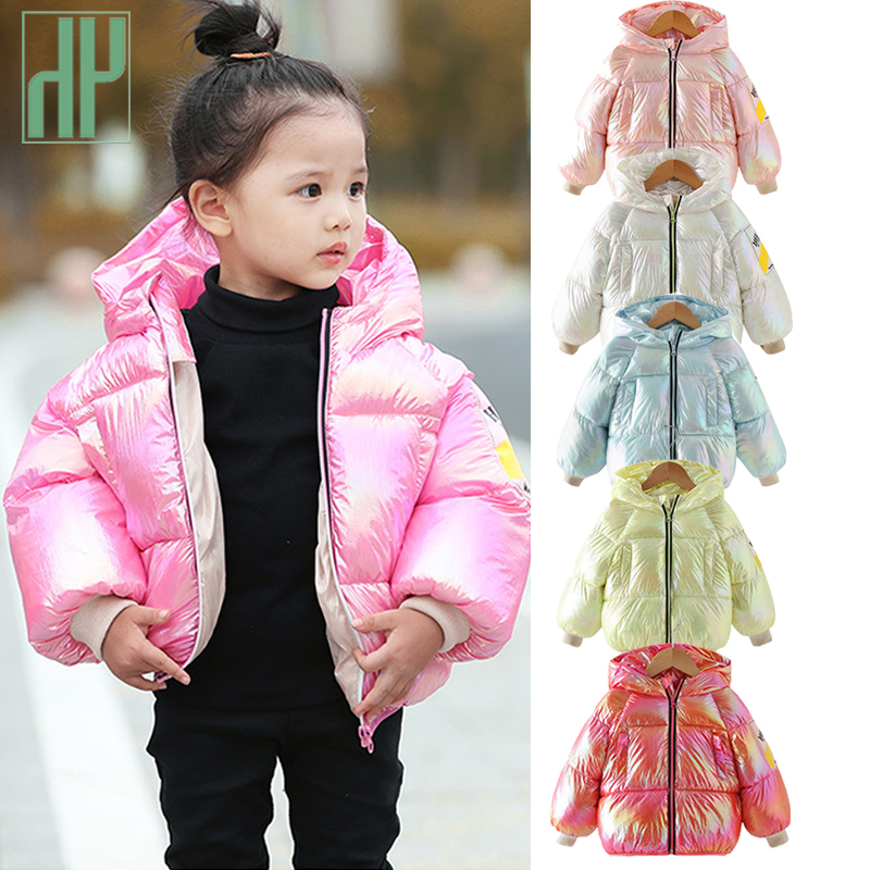 Happy childhood Girls Kids Toddler Outwear Clothes Winter Jacket Coat Snowsuit Year Clothing 1-4 Years Girls