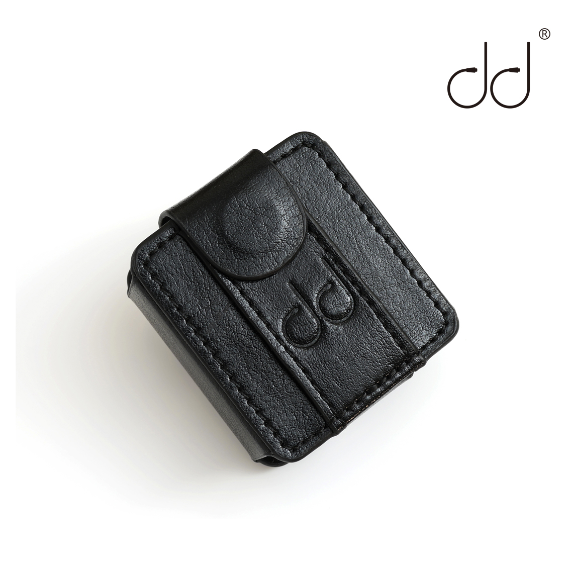 DD C-M5 Leather Case For FiiO M5 Music Player, DAP Leather Cover (with Elastic Loop Strap) Black, Watch Band Use.
