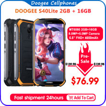 IP68 DOOGEE S40 Lite Rugged Phone Mobile Phone 5.5inch Display 4650mAh