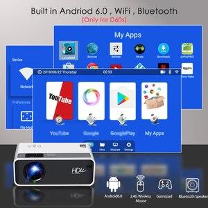 Image 3 - Aun Mini Projector D60, 2800 Lumen 1280X720P, Led Proyector Voor 1080P Home Cinema, optioneel D60S Android Wifi 3D Video Beamer.
