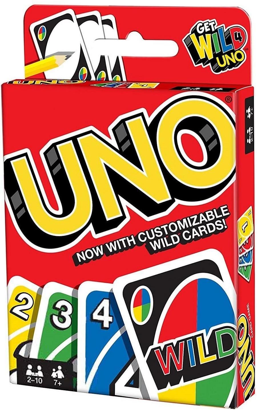 Карточная игра Tomei UNO можно настроить, с открытыми картами