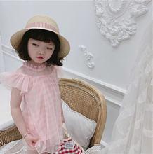 Платье для маленьких девочек летнее Сетчатое многослойное свободное