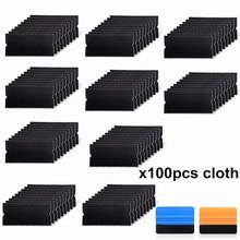 EHDIS 100Pcs ฟิล์มไวนิลรถ Wrap Folie ผ้าผ้า 10 ซม.คาร์บอนไฟเบอร์ไม้กวาดหน้าต่าง Tint Scraper อะไหล่ Protector Felt