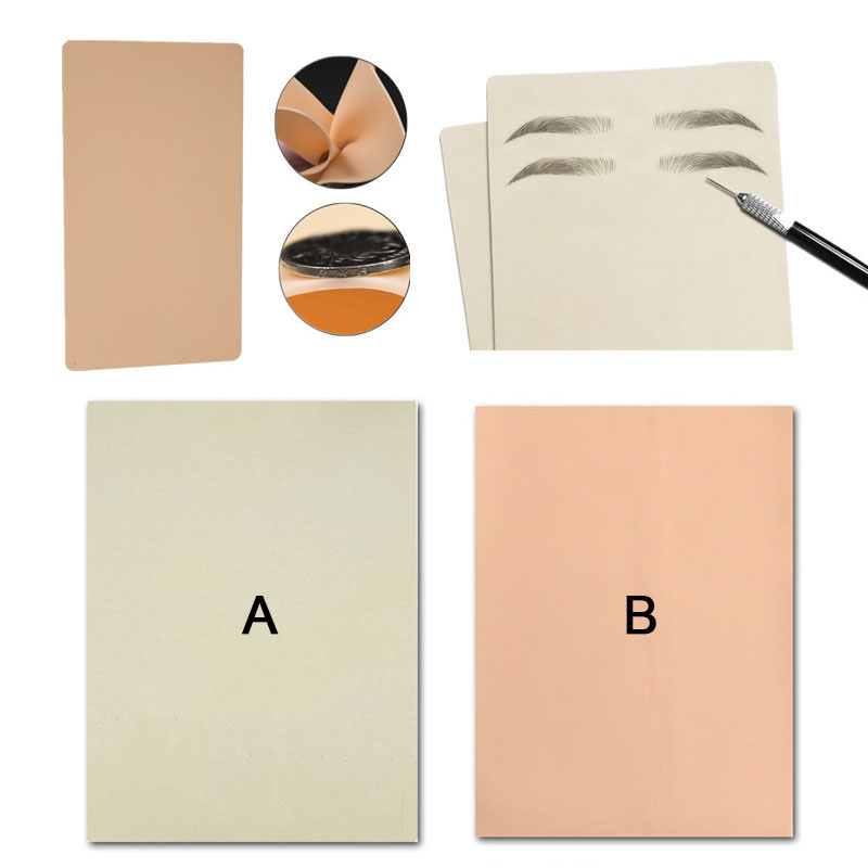 1Pcs Blank Tattoo Practice Skin Sheet Silicone Imitation Leather For Needle Machine Supply Kit Permanent Makeup Eyebrow Lips