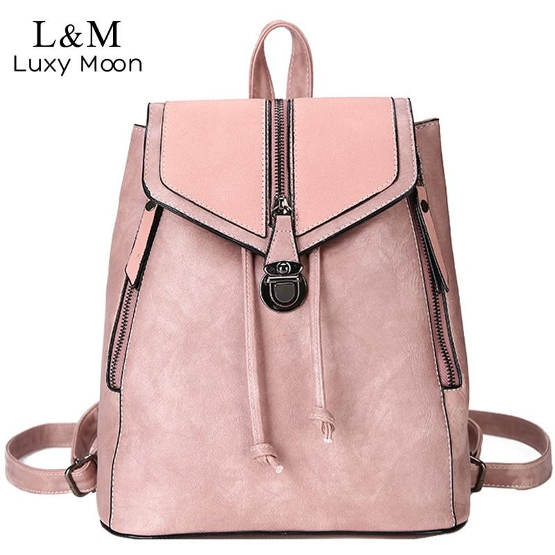 Vintage Matte Leather Women Backpacks High Quality Multifunctional Shoulder Bag Female Girls Backpack Retro Schoolbag XA533H