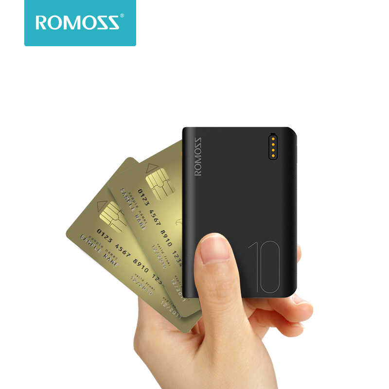 Romoss Sense4 Mini batterie d'alimentation 10000mAh Charge rapide Powerbank 10000mAh chargeur de batterie externe Portable pour iPhone pour Xiaomi