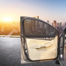 1 шт., магнитный автомобильный солнцезащитный козырек, УФ-защита, автомобильная занавеска, оконный козырек, боковое окно, сетка, солнцезащитный козырек, летняя Защитная оконная пленка