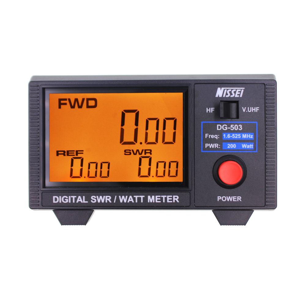Origianl NISSEI DG-503 1.8-525Mhz Short Wave UV Standing Wave Meter Power Meter SWR Digital Power Meter