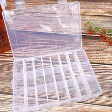 Plastic Organizer Makeup Cosmetic Storage Container 8 10 15 24 Compartment Adjustable Transparent Box Jewelry Earring Display