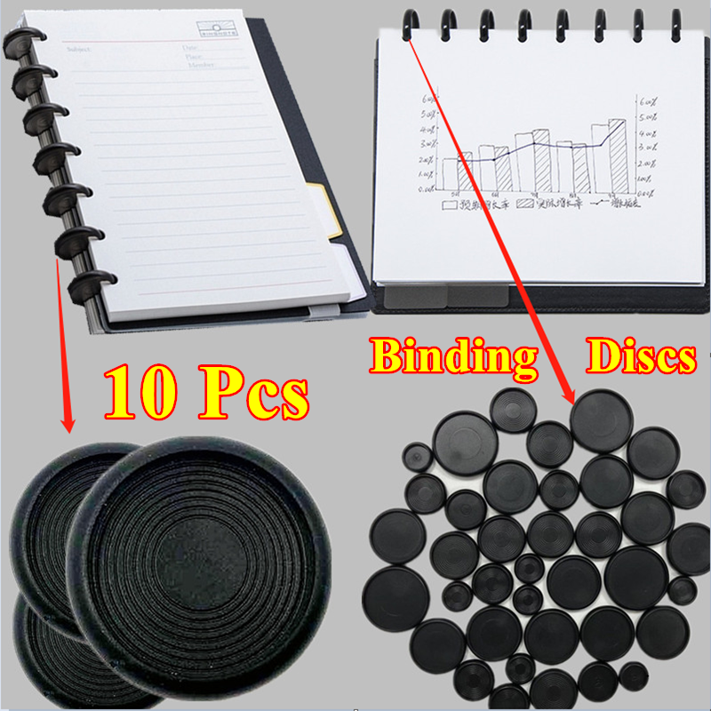 10pcs/bag 18mm/24mm/28mm/32mm/38mm Classic Diy Discbound Discs for Notebooks or Planner Dicsbound Notebook Accessories