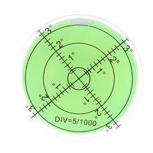 60 Millimetri di Grandi Dimensioni Spirito Bolla di Livello Gradi Mark Superficie Circolare di Misura Tori Occhi