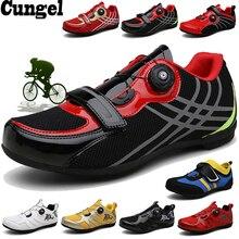 Cungel дышащая Pro самоблокирующаяся велосипедная обувь для шоссейного велосипеда велосипедная обувь сверхлегкие Спортивные Гонки кроссовки Zapatos Ciclismo
