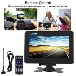 Image 4 - スマートカーテレビ 10 インチ DVB T T2 16:9 hd 1080 p デジタルアナログポータブルテレビカラーテレビプレーヤー用 eu プラグ