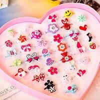 10 unids/lote amor niños lindo dulce diseño de anillos flor Animal accesorios de joyería de moda para niños dedo creativo anillos regalo Chic