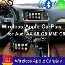 Sinairyu Wifi беспроводной Apple Carplay Car play 2010- A4 A5 Q5 MMI 2009-2011 A6 A7 A8 C6 Android Зеркало для Audi с iOS 13