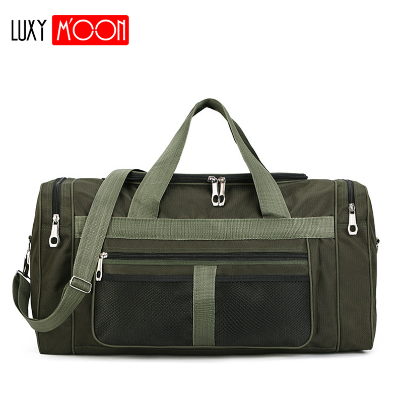 Multi-functional Folding Nylon Men Travel Bag Large Capacity Waterproof Outdoor Bags Casual Duffle Bag Anti-scratch Handbag 128K