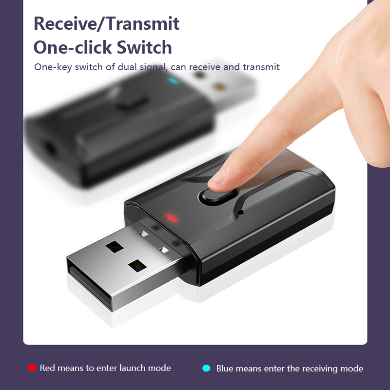 Wireless USB Bluetooth 5.0 Adapter Transmitter Music Receiver MINI BT5.0 Dongle Audio Adapter For Computer PC Laptop Tablet Home