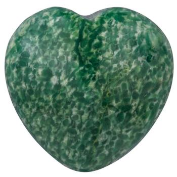 TUMBEELLUWA Natural African Green Jade Heart Carved Healing Crystal Puff Palm Stone,Worry Stone Chakra Reiki 0.9