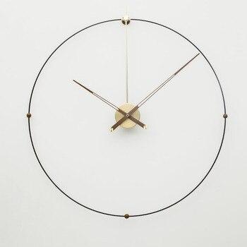 Surdimensionné grande horloge murale en métal Design moderne européen Simple fer Art 3D décoratif suspendus horloges mur montre décor à la maison 80cm 1