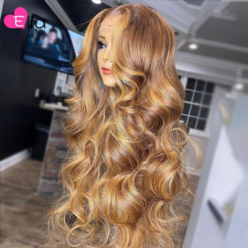 Индийский светлый парик на сетке, парик с застежкой 4 х4, бразильский парик из человеческих волос, парик для женщин, естественная линия волос