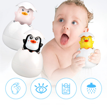 Water Baby Toys Penguin-Egg-Model Water-Spray-Toys Floating-Duck Playing Bathroom Kids