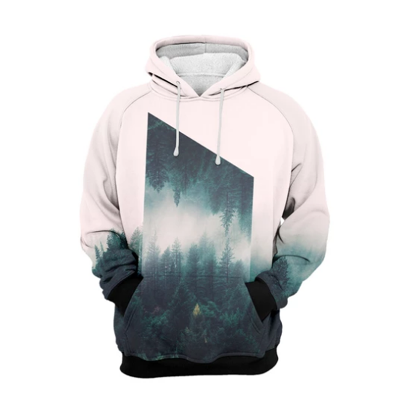 MODAVELOCE High Sector Hoodie Polyester With Wool Hoodie Men Cotton Anime's Sweatshirt Girl