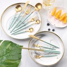 Reusable Cutlery Dinnerware Knife Fork Chopsticks Spoon 304 Stainless Steel Western Cutlery Kitchen Food Tableware Dinner Set цена и фото