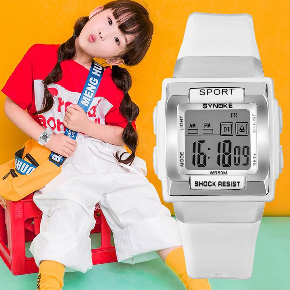 SYNOKE Sports Children Digital Watches Waterproof Luminous Students Watches Automatic Electronic Watch Stop Watch