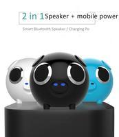 DSstyles Portable Bluetooth Speaker Pig Head Audio FM Radio Phone TF Card MP3 Charging Treasure Subwoofer Stereo Player