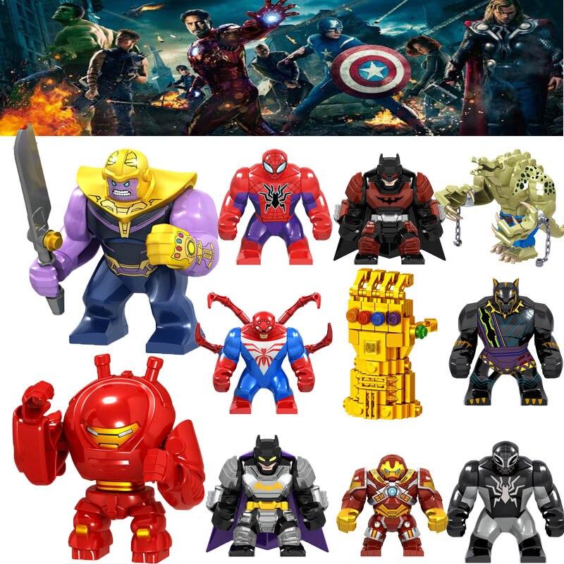 Marvel Avengers Figures Captain Endgame Pepper Spiderman Iron Man Ancient One Thor Hulk War Machine Building Blocks