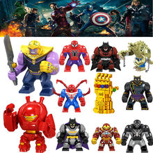 Marvel Avengers Figure Captain Endgame Pepe Spiderman Iron Man Antico di un Thor Hulk Macchina da Guerra Building Blocks(China)