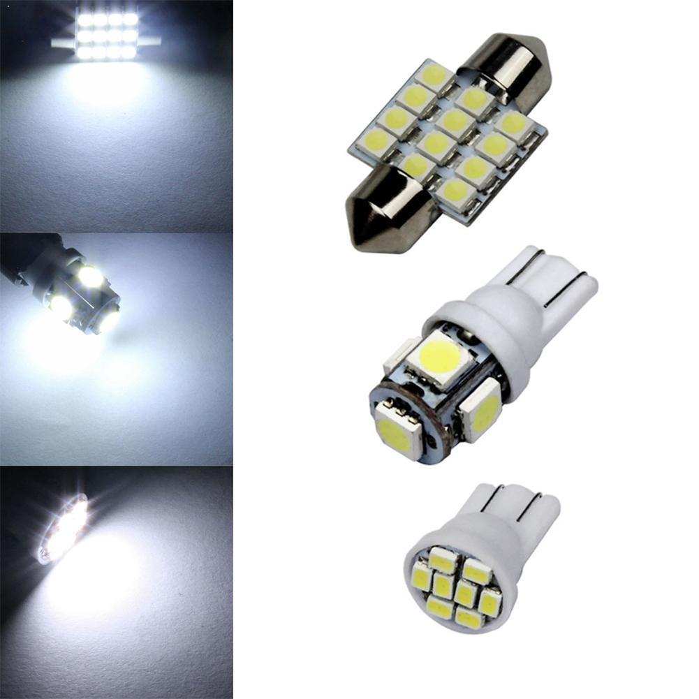 13pcs/Set T10 Auto Car Xenon White Replacement LED Bulbs For Stock Lamps Tail Dome Kit Light Plate & & Light License Interi U8Y2