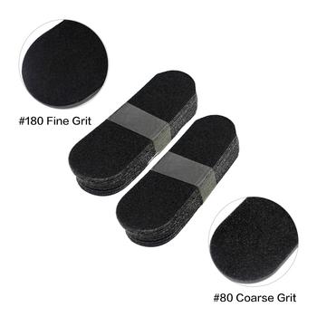 20 sztuk paczka pilniki do stóp wymień papier ścierny Pedicure pilniki do stóp pielęgnacja stóp-narzędzie pilnik-modzele-Remover martwa skóra Foot Rasp Refill tanie i dobre opinie CN (pochodzenie) SandPapers 10 5x3 5cm TP-TP18B 80 180 Grit Black 20pcs pack Replace Sanding Dead Skin Foot Rasp