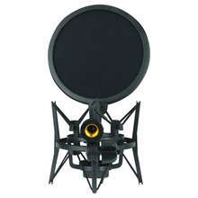 SH100 Shock Mount z filtr siatkowy Mic Holder akcesoria zmniejsz hałas czarny uchwyt mikrofon uniwersalny klip profesjonalny