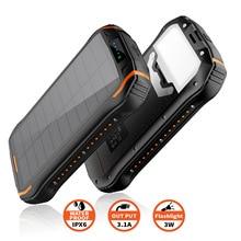 Outdoor Solar Power Bank Wireless Waterproof Powerbank Battery Bank Portable Charger for Xiaomi Iphone 26800mAh Power Supply стоимость