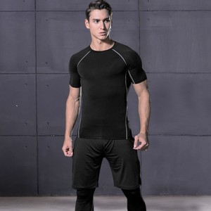 Image 3 - WorthWhile 6 Pcs/Set Sports Tracksuit Men Compression Suit Gym Fitness Clothes Running Set Jogging Training Workout Sport Wear