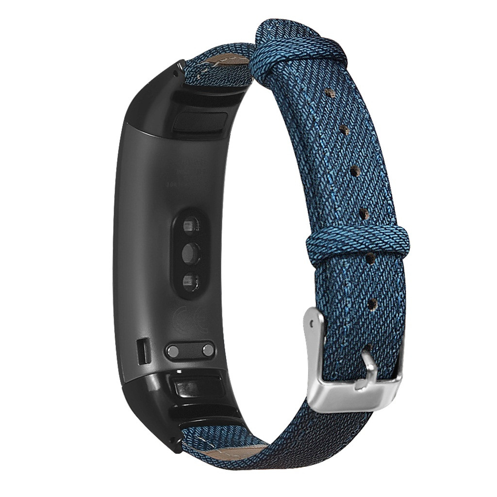 Ouhaobin Wrist Strap For Huawei Honor Band 5/4 Denim Bracelet Metal Case Wristband Strap Watch Band Accessories