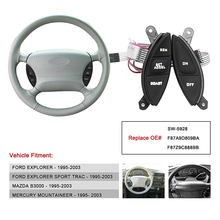 цена на Hot Steering Wheel Cruise Control Switch For Ford F150 Explorer F-150 Ranger REPLACES SW-5928 F87Z-9C888-BB