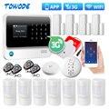 Towode G90B Plus + 3G GSM WiFi Домашняя безопасность IOS Android приложение управление Умный дом сигнализация Система дымовая сигнализация Стробоскопическа...