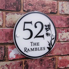 Customized 200x200mm House number, Apartment number Personality Acrylic Door Number House Sign Street Address Effect Glass