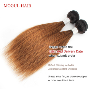 Image 4 - MOGUL HAIR 2 Bundles 50g/pc Ombre Honey Blonde Blonde Weave Bundles Indian Straight Non Remy Human Hair Extension 10 16 inch