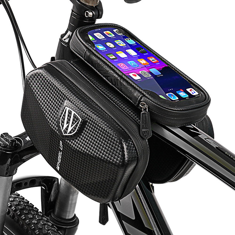 Велосипедная Рама для велосипеда, передняя сумка для горного велосипеда, велосипедная труба, водонепроницаемая сумка для MTB телефона, сенсорный экран, 6 дюймов, чехол для телефона|Сумки и корзины для велосипеда|   | АлиЭкспресс