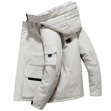Мужской короткий пуховик с капюшоном зимняя куртка для пар 2020
