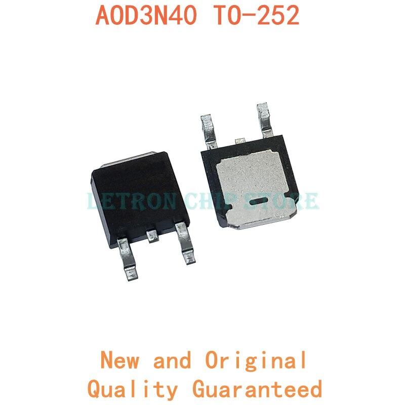 10 шт. AOD3N40-252 D3N40 TO252 MOSFET N-CH 400V 2.6A оригинальные и новые IC