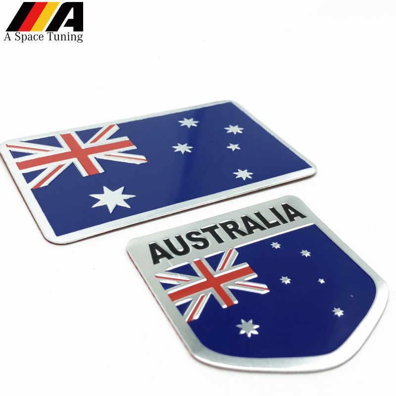 Autocollant en Aluminium 3D de style de voiture d'insigne d'emblème de drapeau National de l'australie pour Honda Opel Ford BMW VW Toyota Audi Kia Kawasaki Yamaha