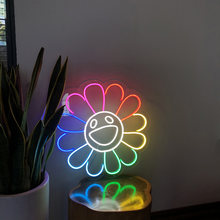 Hdjsignwaterproof custom neon sign светильник sunflower вечерние